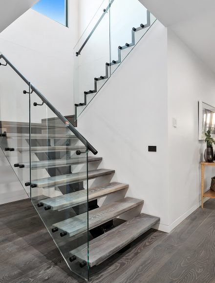 Modern Glass Balustrade Floating Staircases - Timeless Staircases Melbourne